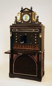 Collection of Furniture, Musical Instruments, Clocks and Stoves - Gottlieb Hentscheln (corpus) - Carl Payer (clock): Secretaire with built-in flute mechanism, 1817, Kiscell Museum