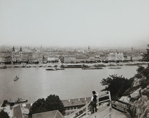 Collection of Photographs - View of Pest from Gellért Hill, circa 1896, photographed by Mór Erdélyi, Kiscell Museum