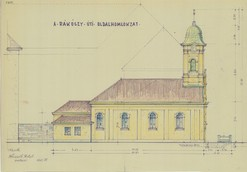 Collection of Drawings - The northern facade of the St. Rochus chapel on Rákóczi Road (Budapest), Castle Museum