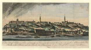 Collection of Engravings - Peter (or Peter Paul) Westermayer after Johann Jakob Meyer (1749-1829): View of Buda, 1780, copperplate etching and engraving, Kiscell Museum