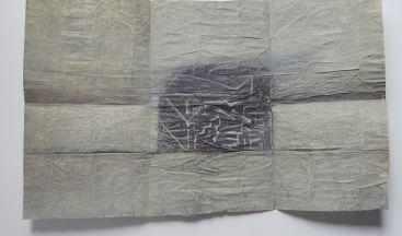 Károly Schmal: Intricate, 2017, paper, pastel, 31×48 cm